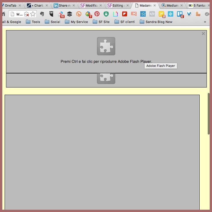 Adobe Flash – per i siti, è finita